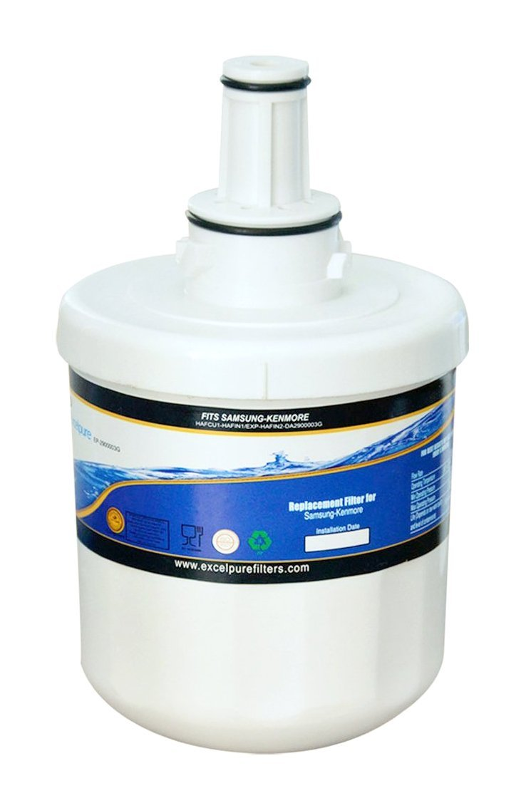 EXCELPURE EP-2900003G Refrigerator Water Filter, Compatible W/ Samsung DA29-00003G, DA29-00003B, DA29-00003F, HAFCU1, HDX FMS-1, RWF1100A, and WSS-1 Water Filter - 1 Pack