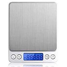 500g/0.01g Digital Kitchen Scale, High-precision Pocket Food Scale, Multifunctional Pro Scale with Back-Lit LCD Display, Tare Function,Stainless Steel Texture-Wenewer