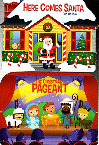 Here Comes Santa, The Christmas Pageant - Set of 2 Christmas Pop-Up Board Books - v2