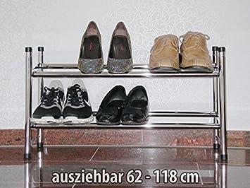 Schuhregal metall ausziehbar
