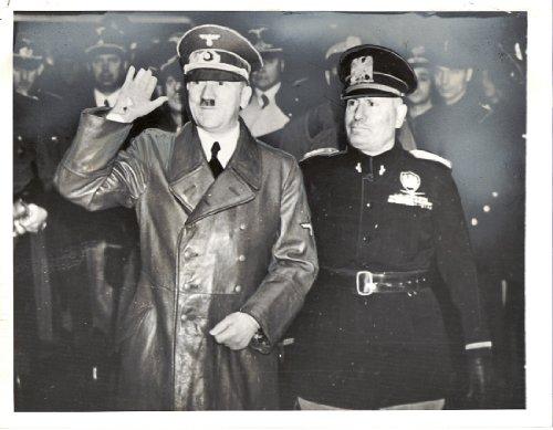 1940 Original Press Release Photo Hitler Mussolini ()