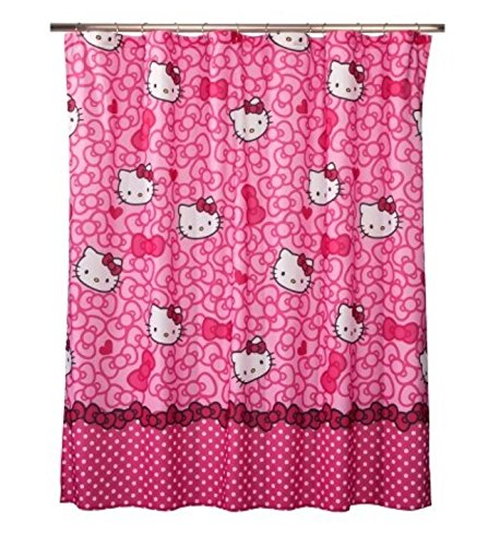 Sanrio Fabric - Hello Kitty Allover Fabric Shower Curtain