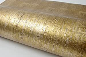 Lime Gold Pearl Interior Film Contact Paper Self Adhesive Peel-Stick Removable Wallpaper(Lime Gold Pearl 9.84ft)