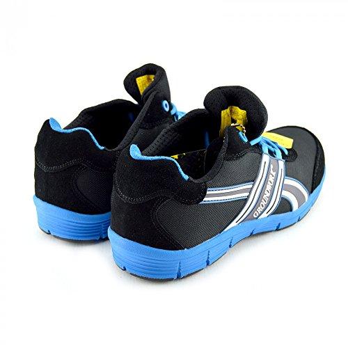 Kick Schuhe Herren Groundwork Steel Toe Safety Trainer Schwarz-Blau