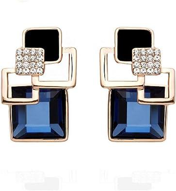 925 Sterling Silver Tassel Boucles d/'oreilles carré cz oreille goutte pour les femmes Fashion Jewelry