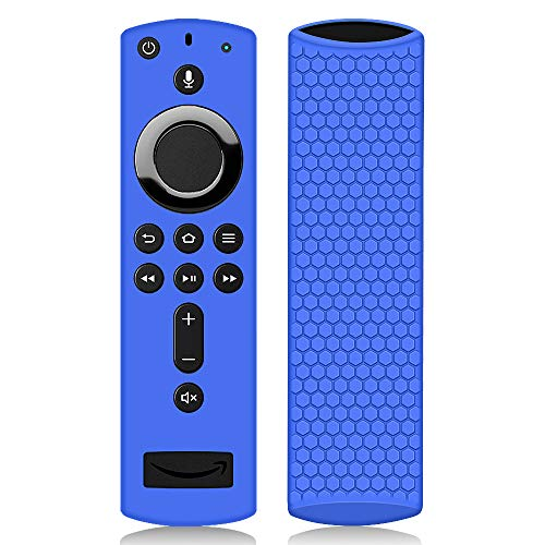 Remote Case/Cover for Fire TV Stick 4K, Protective Silicone Holder Lightweight [Anti Slip] Shockproof for Fire TV Cube/Fire TV(3rd Gen) Compatible with All-New 2nd Gen Alexa Voice Remote Control-Blue