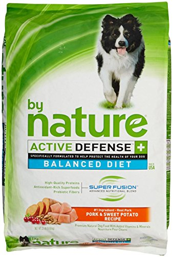 By Nature Active Defense Balanced Diet Dog Food - Pork And Sweet Potato - 22 Lb
