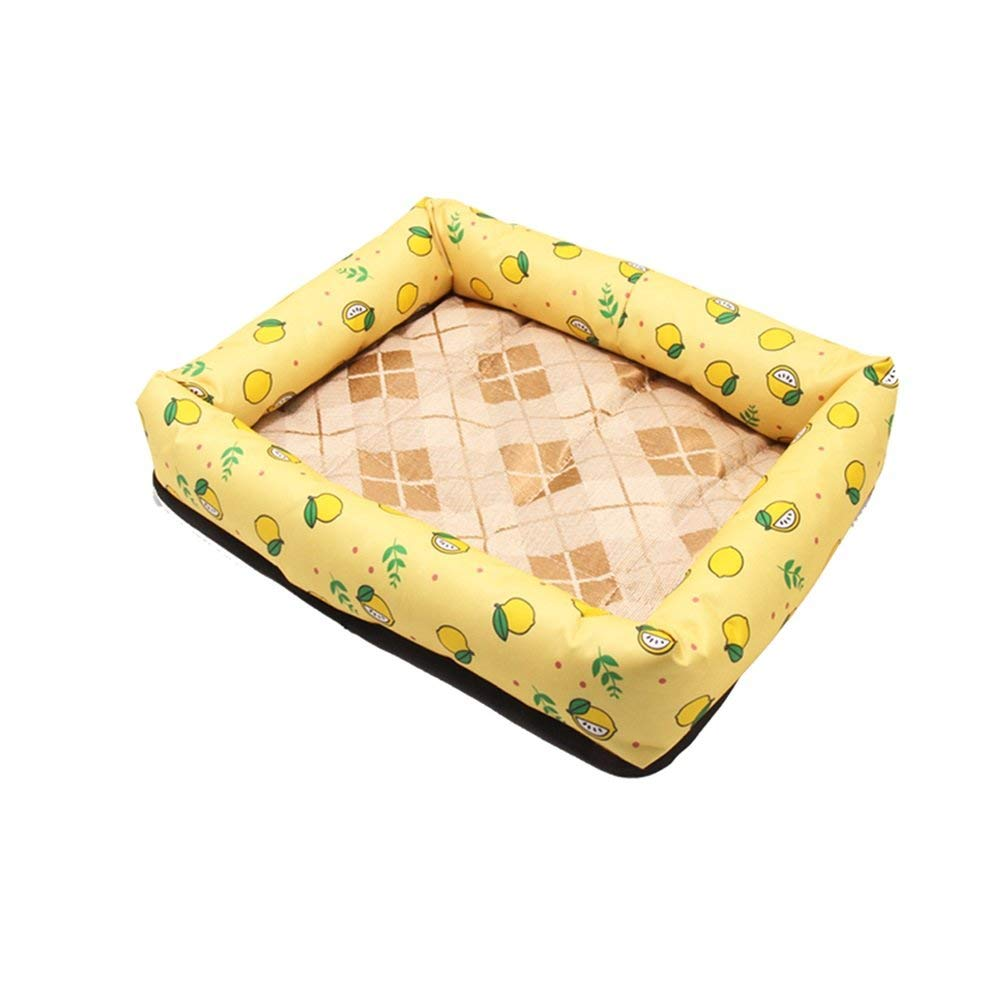 4 Small 4 Small Pet Sofa Doghouse Summer Cool Mat Ice Silk Mat Nest Dog Bed Pet Sleeping Bag Cat Supplies Cat Nest Kennel Resistance To Bite (color   04, Size   Small)