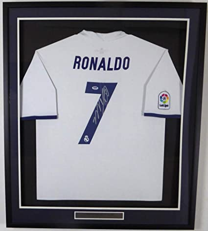 on sale 5511a b6d76 Cristiano Ronaldo Autographed Signed Framed Real Madrid Fly ...