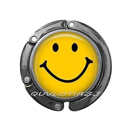 Gancho para monedero de cara sonriente, diseño de emoticono ...