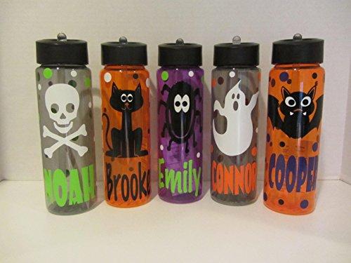 Personalized Halloween 24 ounce BPA free water bottle-