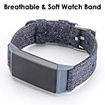 EZCO Bands Compatible with Fitbit Charge 3, Woven Fabric Breathable Watch Strap Quick Release Replacement Wristband Accessories Man Woven Compatible with Charge 3 Fitness Smart Watch