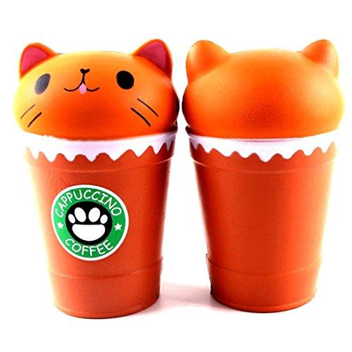 Piebo Toy14cm Tasse Café Cut Parfumé Cappuccino Chat Lente Squishy Rjq53A4L