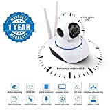 Captcha Wireless HD IP Wifi CCTV Indoor Security Camera Stream Live Video in Mobile or Laptop - White