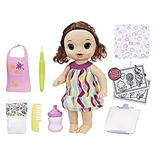 Amazon Com Baby Alive Finger Paint Baby Brown Hair Doll