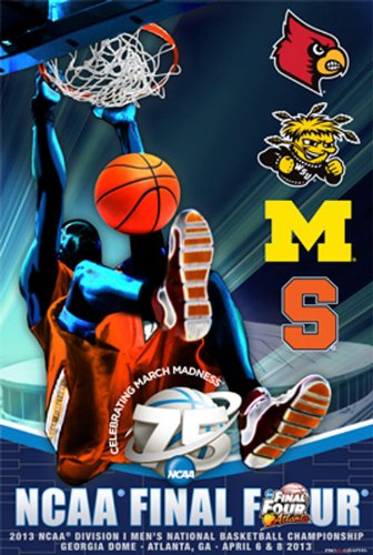 2013 Official Ncaa Final Four Teams March Madness Basketball Print Poster