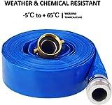 """Eastrans 1.5"""" x 50' Blue PVC Backwash Hose for"""