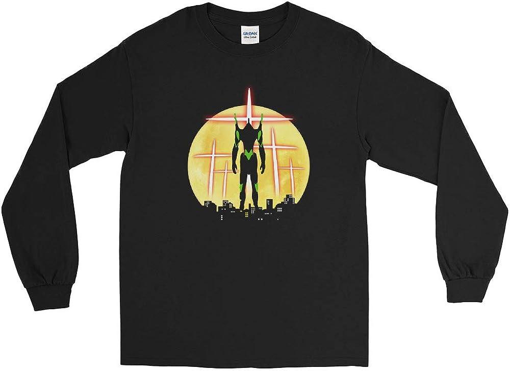 EVA Unit 01 Neon Genesis Evangelion Anime Cool Sunset Men//Women Unisex Long Sleeve T-Shirt