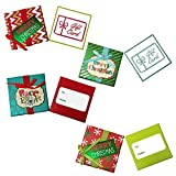 Christmas Gift Card Holder Boxes with Ribbon & Foil