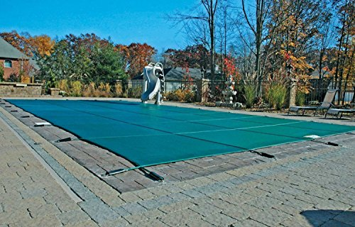 16'x32' Green Mesh Rectangle Inground Safety Pool Cover - 12 Year Warranty - 16 ft x 32 ft In Ground Winter Cover