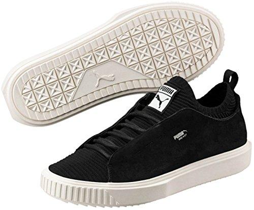 Puma Mens Breaker Knit Sunfaded Fashion Shoes - Puma Black-Whisper White Size 7
