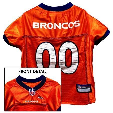 DENVER BRONCOS Dog Jersey ★ ALL SIZES ★ Licensed NFL (XL) (Denver Broncos Dog Costume)