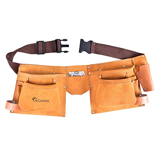 Kosma 11 Pocket D.I.Y. Carpenter Leather Apron | Electrician Pouch | Tool Belt by Kosma