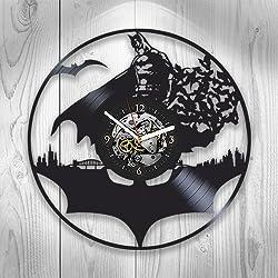 Batman Clock, Batman New Year Gift, Vinyl Wall Clock, Batman Xmas Gift For Boy, Wall Clock Large, Batman Gift For Kids, Batman Gift For Boy, Batman Gift For, Batman Birthday Gift For Boy