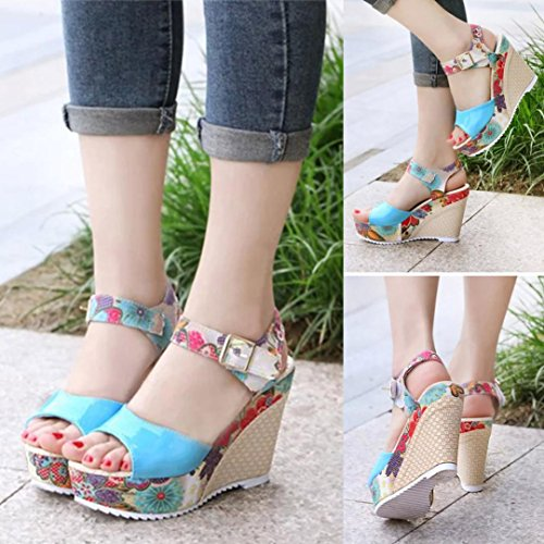 Sandalen Peep Blau Keilplattform Jamicy Schuhe Toe Sommer Damen CqqnAZ