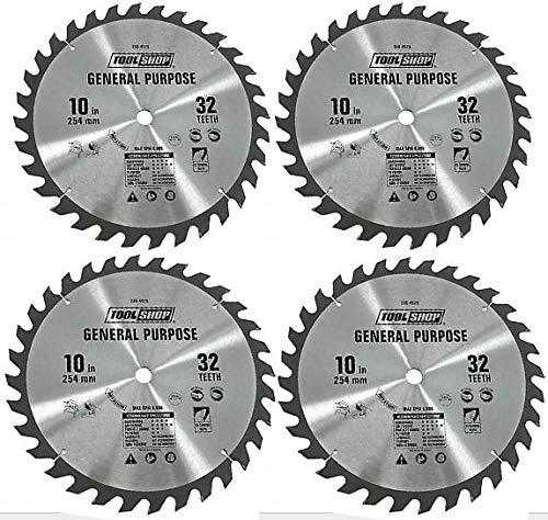 (Circular Saw Blade 32 Teeth 10 inch (254 mm) C2 Carbide Teeth for Ultra Performance (4 Pack))
