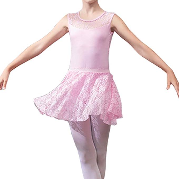 Lefuku Falda de Abrigo la Danza de Ballet Gasa Sin Mangas con Lazo ...