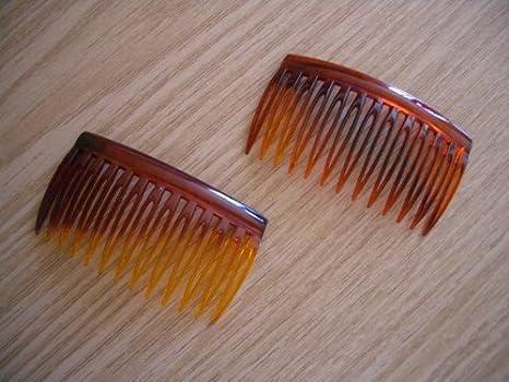 4 x Clear Hair Combs Slides Side Combs 7cm x 4.5cm
