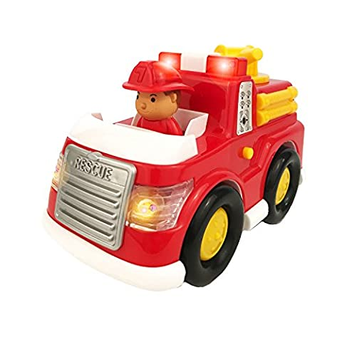 Boley Fire Truck Toy for Toddlers - Electric siren with flashing lights - perfect educational toy for toddlers that seek imaginative and pretend - Doug Fire Truck