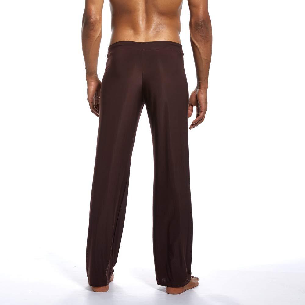 Amazon.com: Mens Super Soft Yoga Pants Long Knit Slant ...