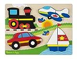 Melissa & Doug Vehicles Wooden Chunky Jigsaw Puzzle (20 pcs)