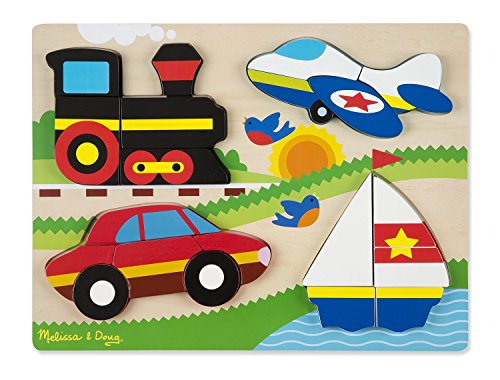 Vehicles Puzzle Chunky (Melissa & Doug Vehicles Wooden Chunky Jigsaw Puzzle (20 pcs))