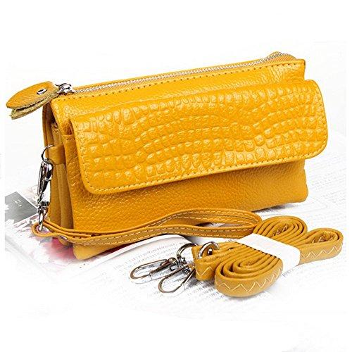 Eysee - Cartera de mano para mujer Rojo morado 17cm*16cm*5cm amarillo
