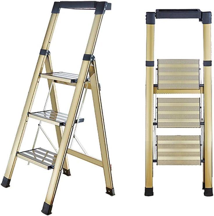 Escalera Plegable Familia de Doble Uso de la aleación de Aluminio pequeña Espiga for Loft Cubierta Escalada al Aire Libre Liuyu. (Size : Square armrest): Amazon.es: Hogar