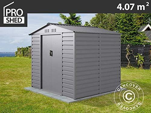 Dancover Caseta de Jardin 2, 13x1, 91x1, 90m ProShed®, Aluminio Gris: Amazon.es: Jardín