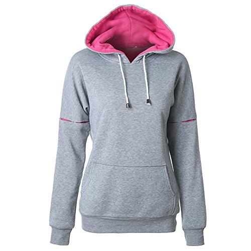 IFANS Women's Hoodie Sweatshirt EcoSmart Heavy Blend Pullover Pocket GREY S-XXL