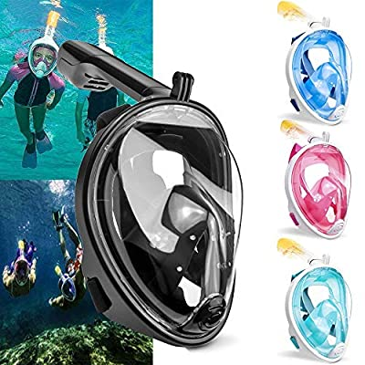 Haoyushangmao 2020 New Diving Mask Scuba Mask Underwater Anti Fog Full Face Snorkeling Mask Women Men Kids Swimming Snorkel Diving Equipment (Color : SX Blue, Size : S/M): Home & Kitchen