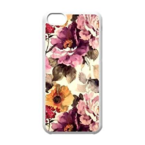 Floral iPhone 5C Case White Yearinspace925784
