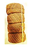 Organic Garden Twine Made of 100% Natural Coconut Fiber,Weight per Spool is 7 Lbs,@ 4 Spools and Length is + 4500 Feet, Thickness 5mm - 5.5 mm from Our Own Production
