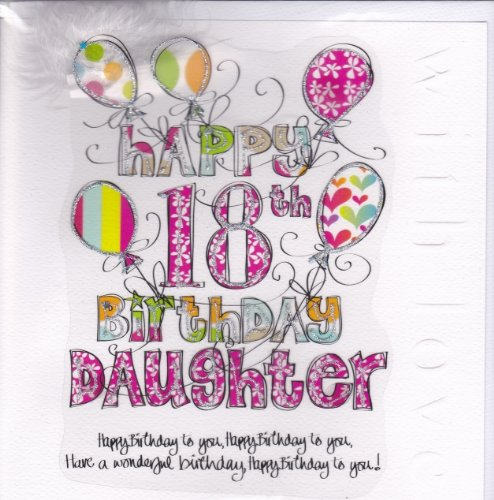 Daughter 18th Birthday Card Large Luxury Birthday Card Amazon
