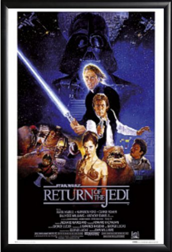 Framed Return of the Jedi Star Wars Movie 24x36 Poster in Ma
