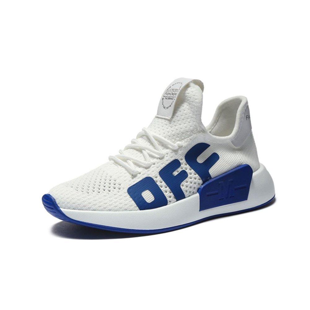 Damenschuhe Schuhe 2018 Neue Sommer Herbst Stricken Flache Ferse Sneakers, Breathable Freizeitschuhe Mode, Lace-Up Light Sohlen Damen Schuhe,A,37 -
