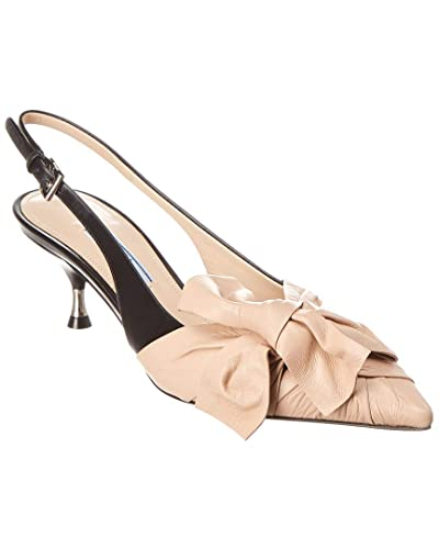 cd49aebf8 Amazon.com | Prada Two-Tone Leather Slingback Pump, 36, Pink | Pumps