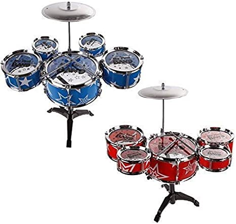 Generic.. Ron se Drum Set Azul Rojo banda J Jazz Play M kit ...