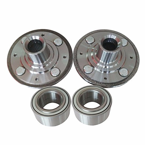 DTA 2 Front Wheel Hubs + 2 Wheel Bearings - Brand New- Left and Right - Fit 1994-2001 Acura Integra; 1992-2000 Honda Civic EX, Si Models With ABS;1994-1997 Civic Del Sol With ABS Dorman 930-981 510030 (Wheel Acura Bearing Integra)