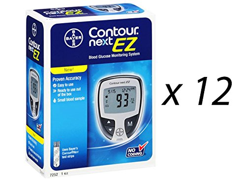 Bayer Contour Next Ez Blood Glucose Monitoring Kit, 12 Meters by Bayer Corp